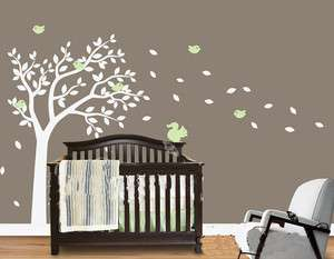 Hight 150cm Tree Squirrel Birds Fit Baby Vinyl Wall Paper Decal Art