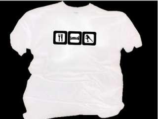 EAT SLEEP INLINE SKATE Childs White T Shirt Age 3 14yrs