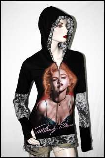 Vintage Marilyn Monroe Punk Rock DIY Funky Hoodie Top