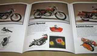 1975 KAWASAKI KZ400 Motorcycle Brochure   Street Bikes