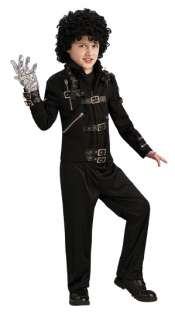Michael Jackson Bad Deluxe Child Costume Jacket includes Black Buckle