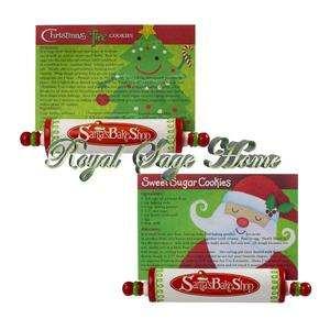449289 Santas Christmas Bake Shop Rolling Pin Recipe Card Holder