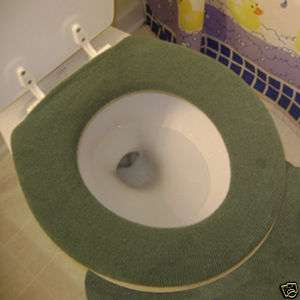 Toilet Seat Warmer Cover   Washable   Forest Green