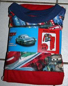 DISNEY PIXAR CARS 2 Piece Flannel Sleepwear Set ~Var Sizes~