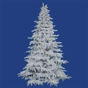 12 Vickerman A893690 Flocked White Spruce   Flocked White
