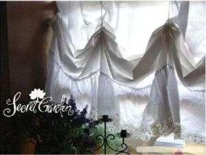 Vintage Battenburg Adjustable BAlloon Shade Curtain