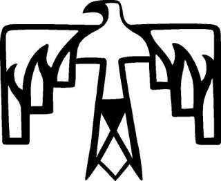 american symbols thunderbird decal sticker display this decal with