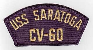 USS SARATOGA CV 60   U.S. NAVY CAP PATCH
