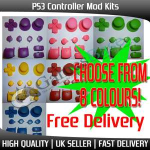 Kit   DPad, Triggers, Buttons, Thumbsticks   8 Colour Choices