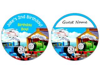 THOMAS THE TRAIN BIRTHDAY PARTY NAMETAGS INVITATIONS