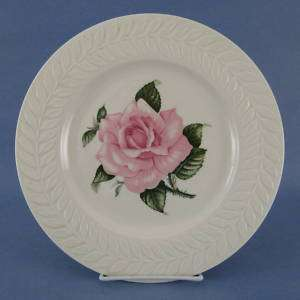Theodore Haviland Rose Dinner Plate Pink Flower Leaves