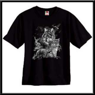 Wolf Bobcat Bear Deer Eagle Shirt S XL,2X,3X,4X,5X