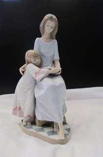 Lladro Bedtime Story New in Original Box 05457 mother child daughter