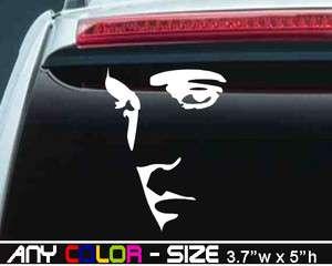 Elvis Presley King of Rock n Roll Face Decal/Sticker