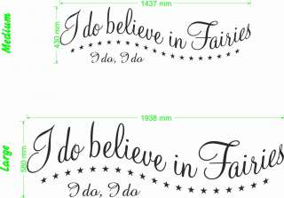 Do Believe In Fairies   Wall Quote Decal Art Sticker