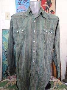60s Vintage LEVIS Western Cowboy Pearl Snap L/S Shirt Medium