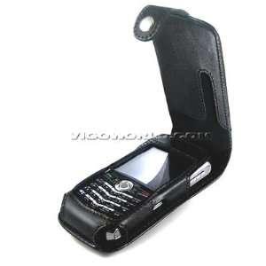 RIM Blackberry Pearl 8100 8120 8130 Black Premium Flip Cover Leather