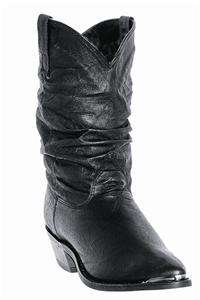 NEW DINGO WOMENS PIGSKIN SLOUCH WESTERN COWBOY BLACK BOOTS 8.5 Medium