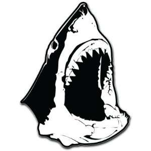 Jaws Shark Head Car Bumper Sticker Decal 5x3.5