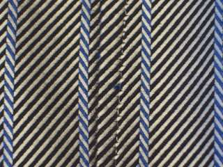 Hugo Boss Mens M Silver Black Blue Striped Cotton Dress Shirt