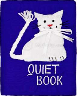Childs Cloth Activity Quiet Book Preschool Toy Blue Cat