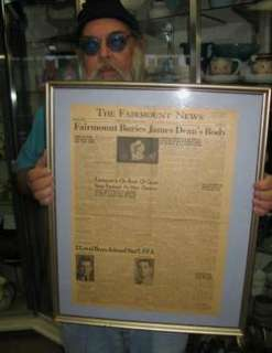 original newspaper FAIRMOUNT BURIES JAMES DEAN BODY / hollywood actor