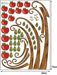 ECO 18 Apple Tree, Mural Removable Decor Wall Sticker