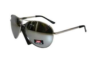 Brand New Aviator Sunglasses Full Silver Mirror Top Av Uv 400 Metal