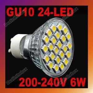 GU10 Warm White Focus 24 LED Bulb Spot Light Lamp 6W 200~240V