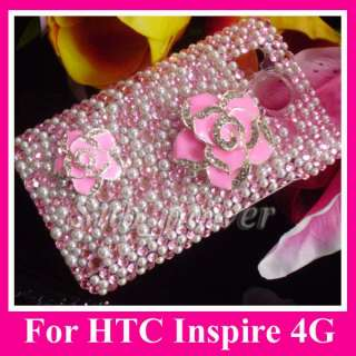 Bling Crystal Case cover for HTC Inspire 4G AT&T phone B18