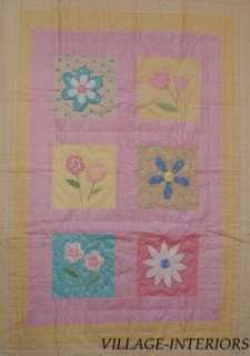 THATS MINE 4PC PINK FLORAL BABY CRIB QUILT BEDDING SET