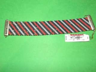 Lucky Brand Striped Tribal Metal Mesh Bracelet on sale