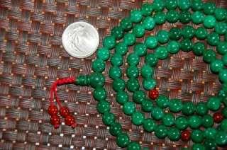 GREEN JADE MALA 108 BEADS FOR MEDITATION