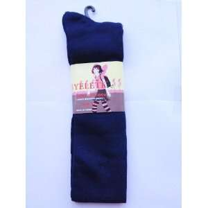 Navy Blue Solid Color Thigh High Socks Size 9 11