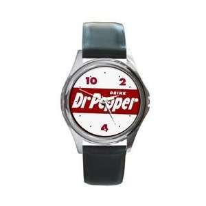vintage logo Dr. Pepper watch real Leather Band & BOX