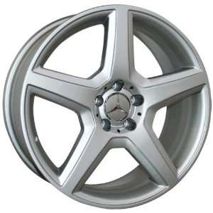 (4) SILVER 18 INCH MERCEDES BENZ WHEELS RIMS Automotive