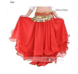 Belly dance Costume big Three layers Skirt Dress 11