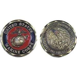 Marine Corps Semper Fidelis USMC Challenge Coin