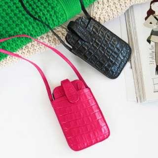 Cell phone leather bag fashion cross purses/i phone sz