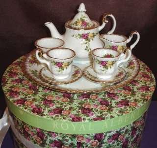 Royal Albert Old Country Roses Tea Pot Mini Set New
