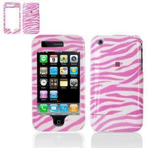 iPhone 3G/3GS Protex Pink/White Zebra Design Protective Case(Carrier