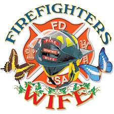 Wife T shirt fireman fire fighter small thru 3xlarge tanktop hoodie