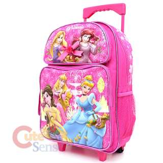 Disney Princess w/ Tangled Large School Roller Backpack Lunch Bag Set