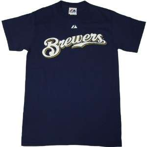 Milwaukee Brewers Logo Ryan Braun Mens T Shirt: Sports