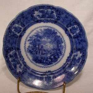 RIDGWAY china ORIENTAL Flow Blue DESSERT PLATE 6 3/4