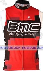 BMC SWISS TEAM RED CYCLING VEST JERSEY SLEEVELESS BIKE SHIRT RACING