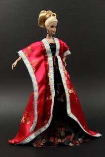 D2477 BN Black Red Korean Dress for Barbie FR