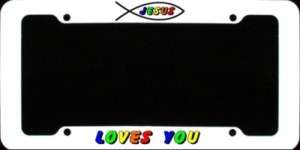 JESUS LOVES YOU,CHRISTIAN,LICENSE PLATE AUTO,TAG,FRAME
