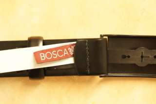 Mens NWT Bosca Black Leather Belt 38