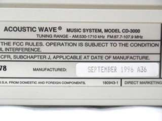 Bose Acoustic Wave Music System Series III Model CD 3000 CD AM/FM